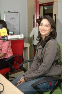 Tamanna at Radio Mirchi