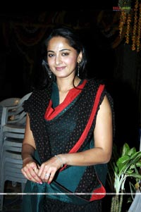 Anushka at Panchakshari Logo Launch