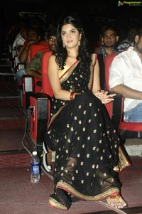 Deeksha Seth in Black Saree at UKUP Audio Release Function
