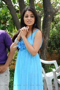 Reshma in Sleeveless Cool Blue Dress+