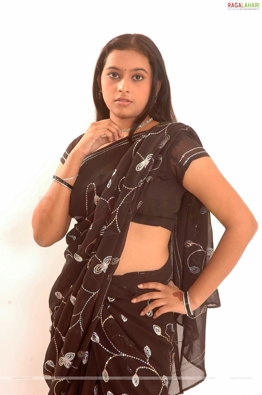 Sree Divya hot in black saree deep navel photos | Indian Actress ...