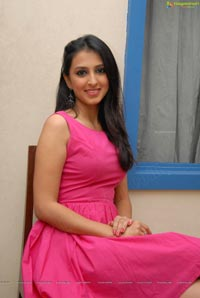 Simer Motiani in Hot Pink Night Gown